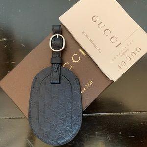 Gucci Guccissima Navy Luggage Tag